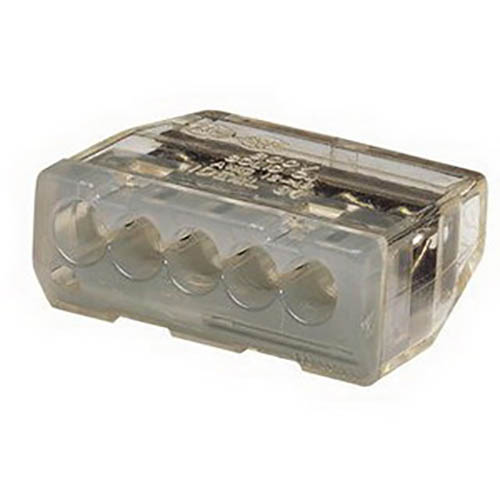 IDEAL Electrical 30-687 Model 87 5-Port In-Sure Push-In Wire Connectors (Gray, Box of 3,000)