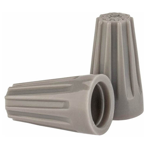 IDEAL Electrical 30-271 #16-22 AWG Model 71B Wire-Nut Wire Connectors (Gray, Keg of 25,000)