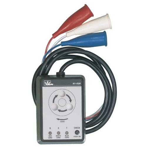 Ideal Electrical 61 520 3 Phase Motor Rotation Tester 600v