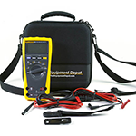 179-TL224-TPAK-TEC25-DD True-RMS Digital Multimeter Kit with Premium Test Leads, Magnetic Hanging Kit, and EVA Case