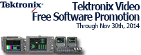 Tektronix Promotions: Free Video Software Option