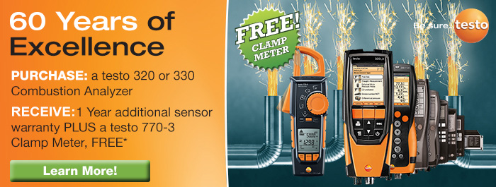 Testo 60 Years of Excellence Fall Promotion