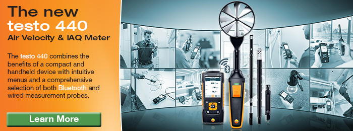 Testo 440 Series Air Velocity and IAQ Measuring Instruments
