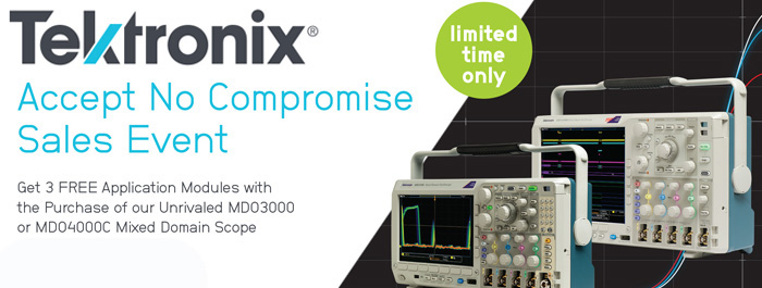 Tektronix Accept No Compromise Sales Event