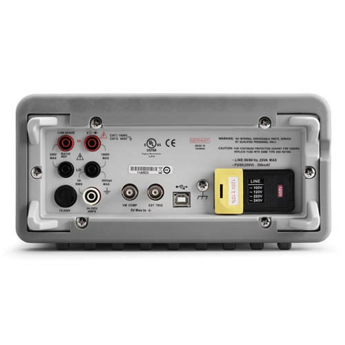 Keithley 2100/120 6 1/2-digit Multimeter with USB Interface, 120V Line Input (Back)