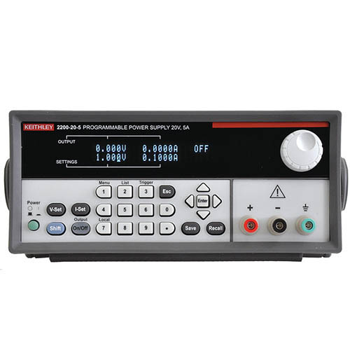 Keithley 2200-20-5 Single-Output Programmable DC Power Supply with USB & GPIB Interfaces, 20V/5A