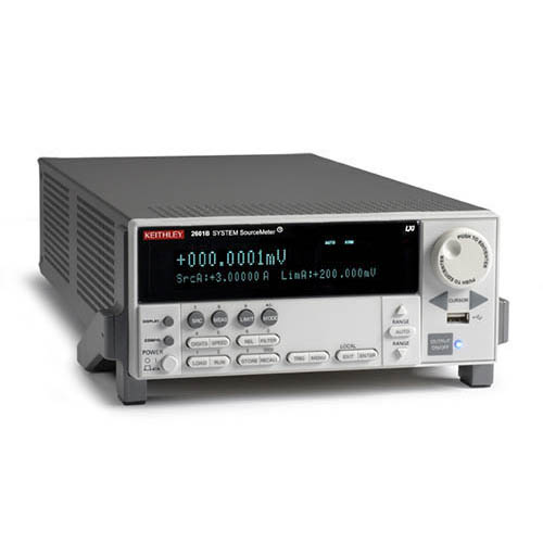 Keithley 2601B 1-Channel System SourceMeter (SMU) w/USB, LXI-C, GPIB, RS-232, Digital I/O, 3A DC/10A (Front/Top)