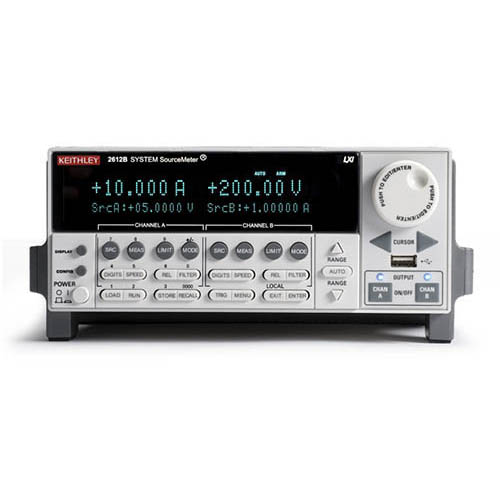 Keithley 2612B Dual-Channel System SourceMeter (SMU) with USB, LXI-C, GPIB, RS-232, I/O, 200V/10A