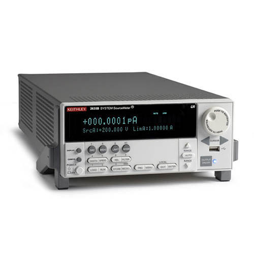 Keithley 2635B Single-Channel System SourceMeter (SMU) with USB, LXI-C, GPIB, RS-232, I/O, .1fA/10A (Front/Top)