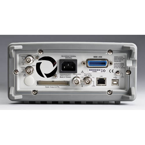 Keithley 3390 Arbitrary Waveform/Function Generator with GPIB, USB, & LAN Interfaces, 50 MHz (Back)