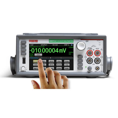 Keithley DMM7510-RACK 7 1/2-digit Graphical Sampling Multimeter with GPIB, USB, & LAN (No Handle) (Front/Touchscreen)