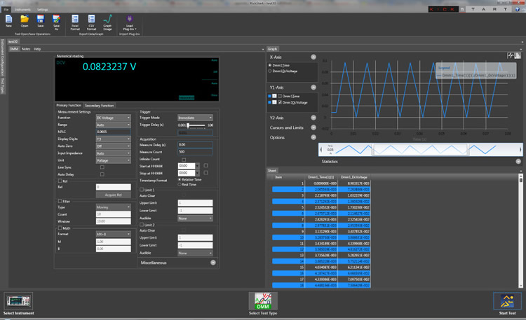 Keithley's KickStart instrument control startup software lets you begin taking measurements in minutes.