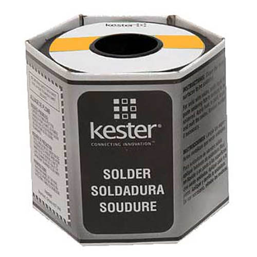 Kester 24-6337-9700 285 Mildly Activated Rosin Flux Core Solder Wire, 0.020 dia, 1 lb, Sn63/Pb37