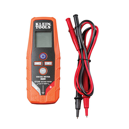 Klein Tools ET250 AC/DC Voltage and Continuity Tester, 2-600V (Components View)