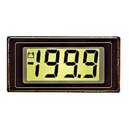 Lascar DPM 125-BL 3 1/2-Digit LCD Panel Voltmeter w/200 mV DC, LED Backlight, Snap-in Bezel Mount