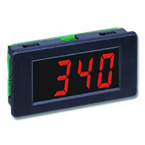 Lascar DPM 340 3 1/2-Digit LED Voltmeter w/200 mV DC, Snap-in Bezel, SIL Pin Connectors