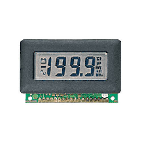 Lascar DPM 600S 3 1/2-Digit LCD Panel Voltmeter w/200 mV DC, Single Rail, Annunciators, Bezel Mount