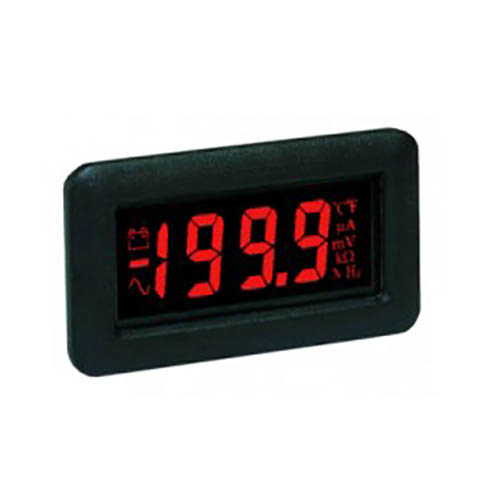 Lascar DPM 750S-EB-R 3 1/2-Digit LCD Panel Voltmeter Module, Red LED Backlight