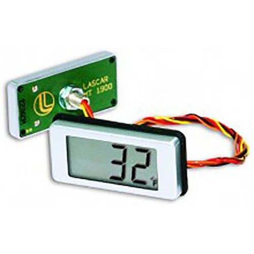 Lascar EMT 1900 NTC-type LCD Thermometer, Annunciators, Round hole Mount, Wire Connections
