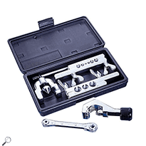 Mastercool 70094 Wide Range 45° Flaring and Cutting Tool Kit in Plastic Case
