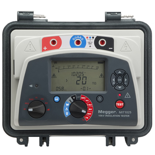 Megger MIT1025 10 kV Diagnostic DC Insulation Resistance Tester