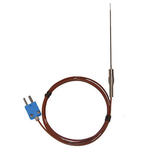 Oakton WD-08113-60 Low-mass Straight-Shaft Thermocouple Surface Probe, Type-T