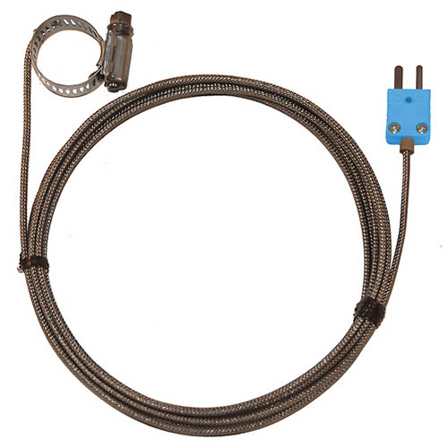 Oakton WD-08469-24 Hose Clamp Surface Thermocouple Probe, Type-T, 0.44-1.00