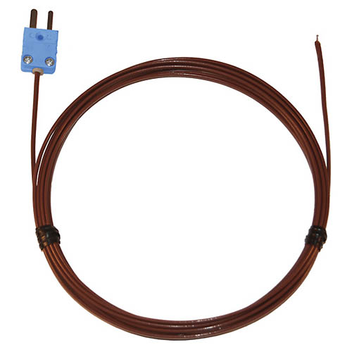 Oakton WD-08516-83 Digi-Sense FEP-Insulated Wire Thermocouple Probe with Exposed Junction, Type-T