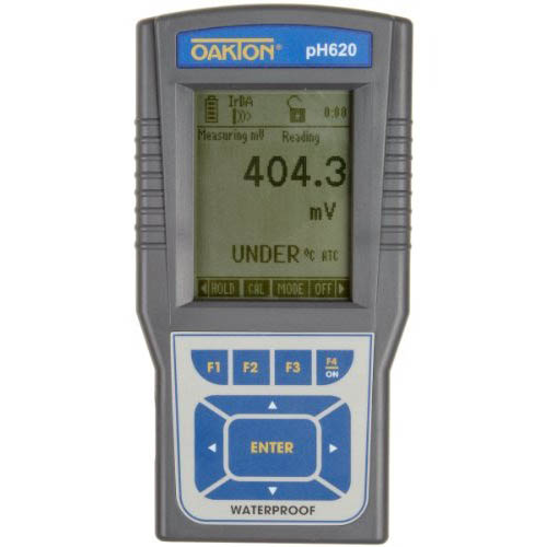 Oakton WD-35418-90 pH 620 pH, mV, Temperature, Ion Meter w/Probes, USB Cable, Case, Cal. Solutions