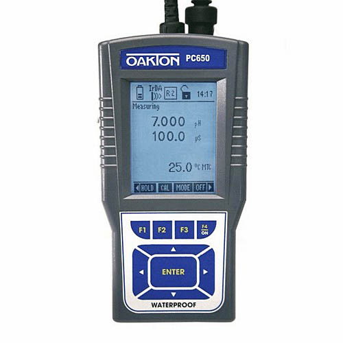Oakton WD-35431-71 PC 650 pH/mV/Ion/Con/TDS/PSU/Temp. Meter w/Probes, Cable, Case, Cal. Sol.,NIST