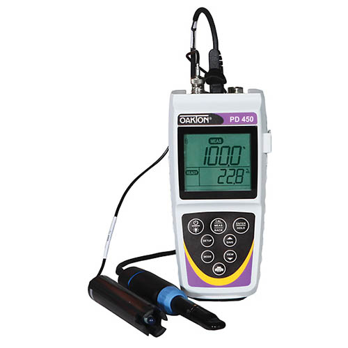 Oakton WD-35632-30 Eutech PD 450 ph, mV, Dissolved Oxygen, Temperature Meter with Probe