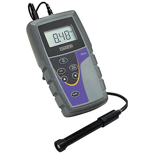 Oakton WD-35643-14 DO 6+ Dissolved Oxygen Meter w/DO Probe, Caps, Electrolyte Solution, Bottles