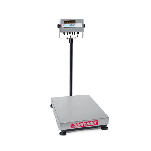 OHAUS D51XW300HX2 Defender 5000 Washdown Bench Scale, Capacity 300kg (600lb), Readability 20g