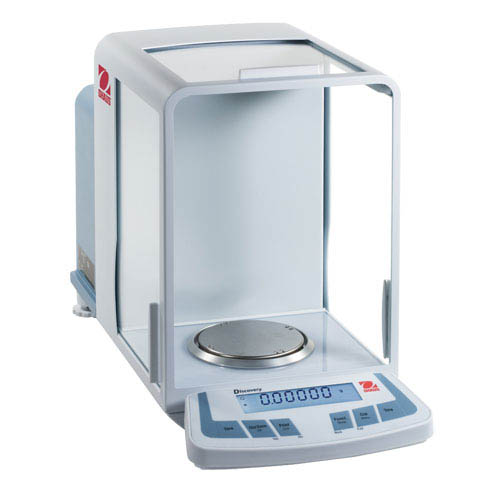 OHAUS DV215CD Discovery Semi-Micro and Analytical Balance, Capacity 81g/210g, Res 0.01mg/0.1mg