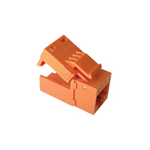 Platinum Tools 706OR-4C EZ-SnapJack Cat 6, Orange color (4 pieces) - Click here for product information page