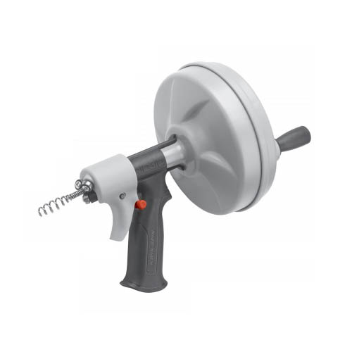 RIDGID 41348 Kwik-Spin Hand Spinner with Autofeed, 25 ft x 1/4 in. Maxcore Cable (Front View of Kwik-Spin)