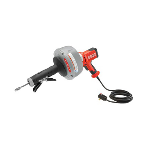 RIDGID 35998 K-45AF-1 Auto-Feed Drain Cleaning Machine with C-1IC Cable, Inner Drum, and Case (View with Full Cord)