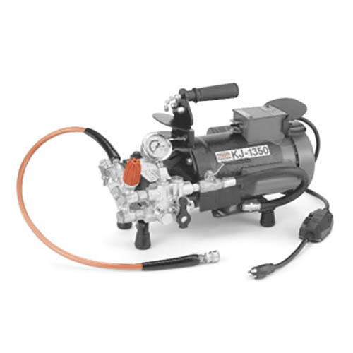 RIDGID 63107 KJ-1350-2 Portable Water Jetter w/Dual Pulse, NPT Nozzles, H-1825 Trap Hose and Accys