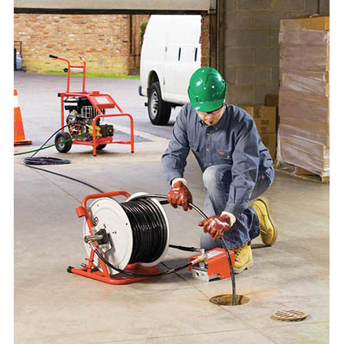Ridgid KJ-3100 (37413) Portable Water Jetter with Pulse Mode, 3000 psi, 5.5 GPM (View of KJ-3100 Water Jetter In Use)