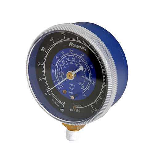 Robinair 11734 Compound Replacement Gauge - Blue, 2 1/2 in, 30 in- 0 - 120 PSI , R12/22/502