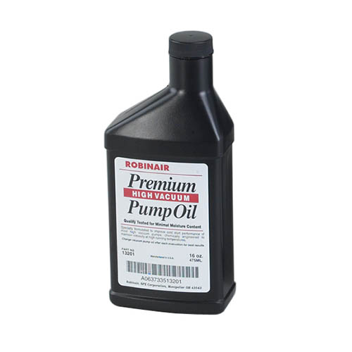 Robinair 13119 16oz Bottle of Premium High Content Pump Oil, Vacuum Lower Moisture