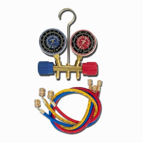 Robinair 40181 R134A/404A/507 2 1/2 in Blue/Red Gauge, 36 in Standard Hoses