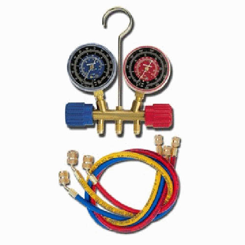 Robinair 40182 R134A/404A/507 2 1/2 in Blue/Red Gauge, 60 in Standard Hoses with Standard Fitting