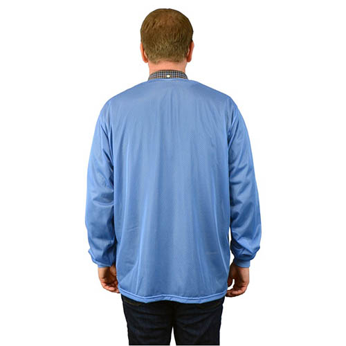 SCS 770017 4Xlarge Blue Smock Jacket with Knitted Cuffs, 3 Pockets, No Collar (Back)