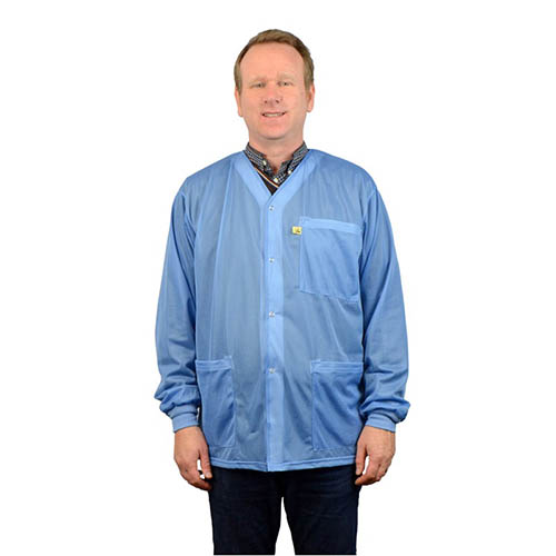 SCS 770017 4Xlarge Blue Smock Jacket with Knitted Cuffs, 3 Pockets, No Collar