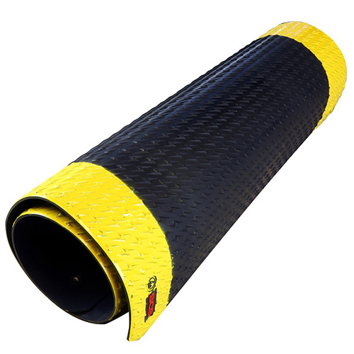 Scs 770094 Esd Rubber Floor Mat Black And Yellow Anti