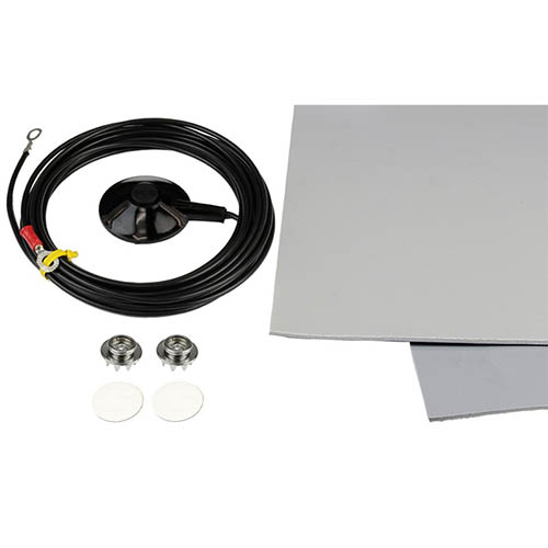 SCS 8263 Dissipative ESD 3-Layer Vinyl Worksurface Mat Roll Kit, Gray, 0.140 in. X 24 in. X 24 ft. (Reverse)