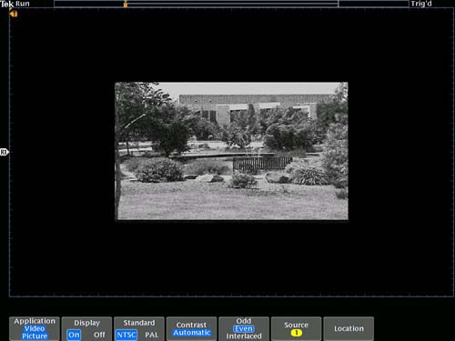 The video picture mode contains automatic contrast and brightness settings as well as manual controls.