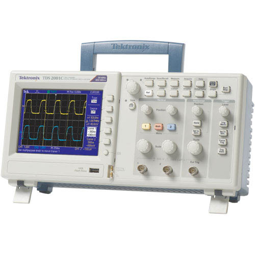 Tektronix TDS2001C 50 MHz, 2-Ch, 500 MS/s Digital Storage Oscilloscope