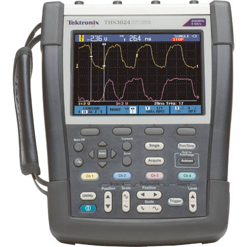Portable Digital Oscilloscope : Tektronix ths mhz ch handheld digital storage